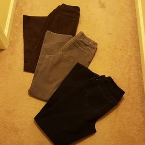 3 pairs of corduroy jeans